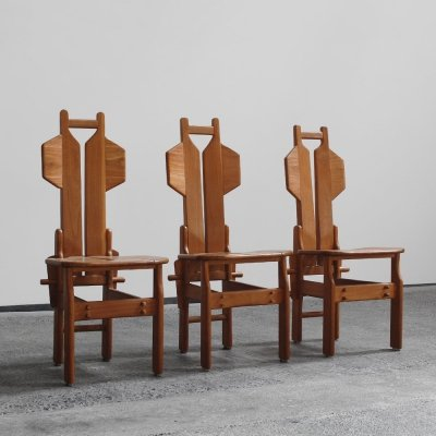 3 modernist chairs, 1960s