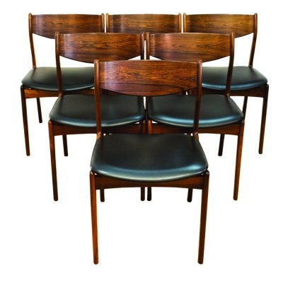 Set of 6 Rosewood dining chairs by PE Jorgensen for Farso Stolefabrik, 1960s