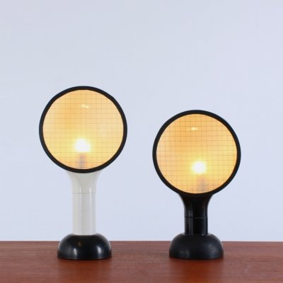 Pair of Drive desk lamps by Adalberto Dal Lago for Bieffeplast, 1970s