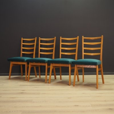 Set of 4 vintage dining chairs, 1970s