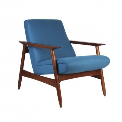 Lithuanian Design Low Back Chair by Valerija Ema Cukermanienė, 1970s
