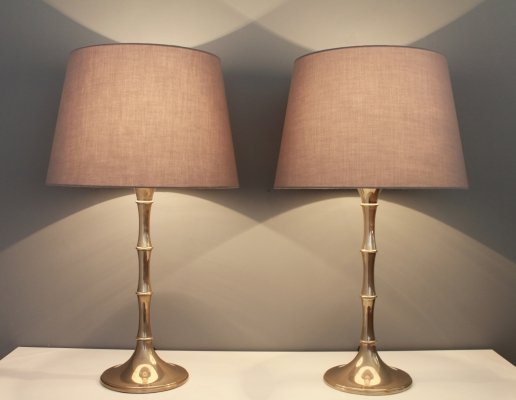 Pair of Bamboo Table Lamps by Ingo Maurer