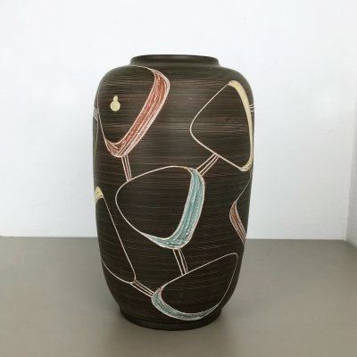 Large Ceramic Pottery Floor Vase by Franz Schwaderlapp for Sawa, Germany 1950s