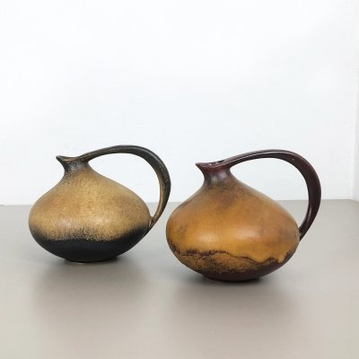 Set of 2 Pottery Vases '313' by Kurt Tschörner for Ruscha, Germany 1960s