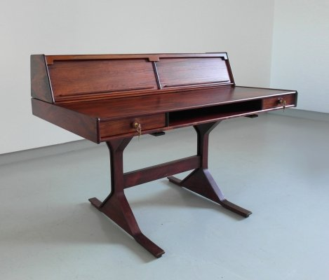 Sophisticated mid-century modern rosewood desk by Gianfranco Frattini