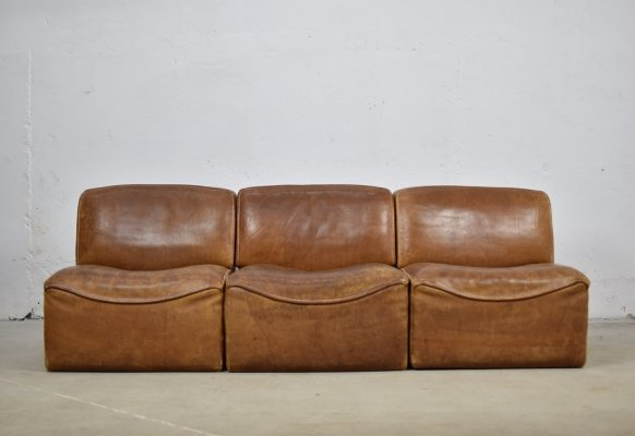 Sectional 'DS15' sofa designed by De Sede, Switzerland 1970's