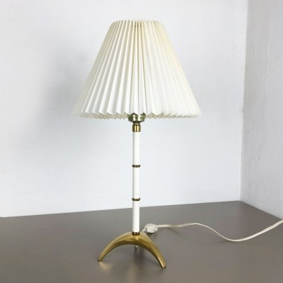 Original Hollywood Regency Brass Tripod Table Light, Austria 1960s