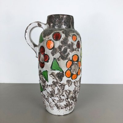 Large Pottery Fat Lava Multicolor 420-54 Vase by Scheurich, 1970s