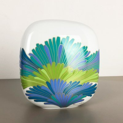 Colorful Porcelain Vase by Rosemonde Nairac for Rosenthal, Germany 1970s