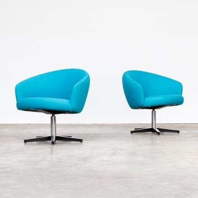 Pair of Yngve Ekstrom 'Rondino' swivel chairs for Swedese, 1960s