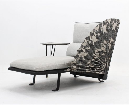 Rare vintage 'LE Mirande' chaise longue by Paolo Nava for Flexform, 1985
