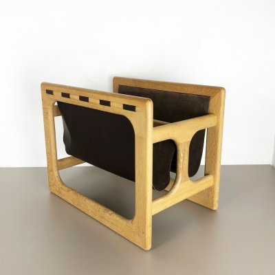 Minimalistic Danish Oak Wood Magazine Rack by Salin Møbler, 1970s