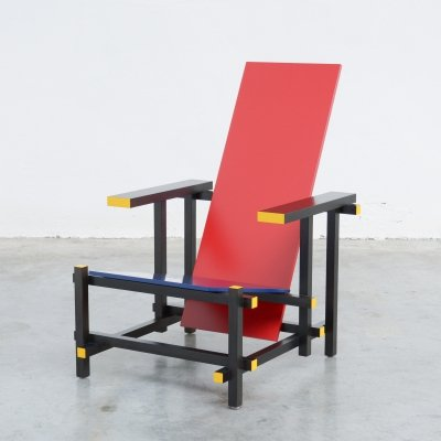 Red & Blue Chair by Gerrit Rietveld for Cassina, 1990s