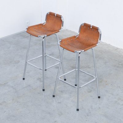 Pair of Bar Stools selected by Charlotte Perriand, 1960s