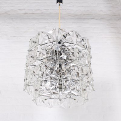 Large cristal Kinkeldey chandelier with 19 bulbs, 1970s