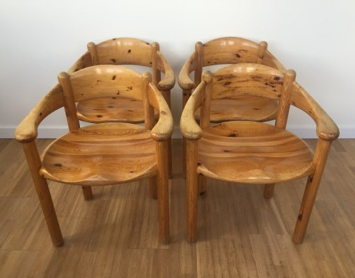 Set of 4 dining chairs by Rainer Daumiller for Hirtshals, 1970s