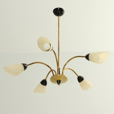Five Arms Chandelier, 1950's
