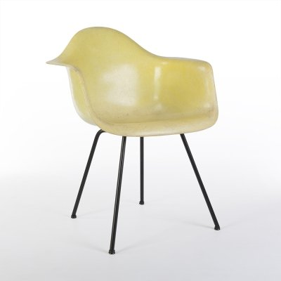 Lemon Yellow 2nd Generation Zenith Original Eames DAX Dining Arm Chair