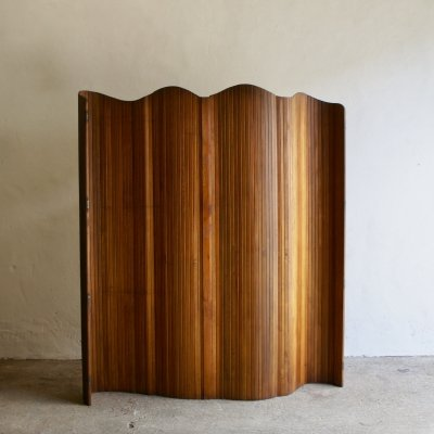 1930's Jomain Baumann Tambour Screen Room Divider