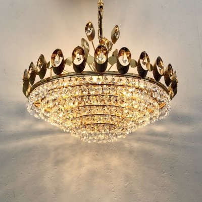 Vintage Palwa chandelier, Germany 1970s