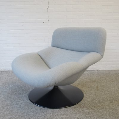 Artifort F518 Lounge Swivel Chair by Geoffrey Harcourt, 1970s