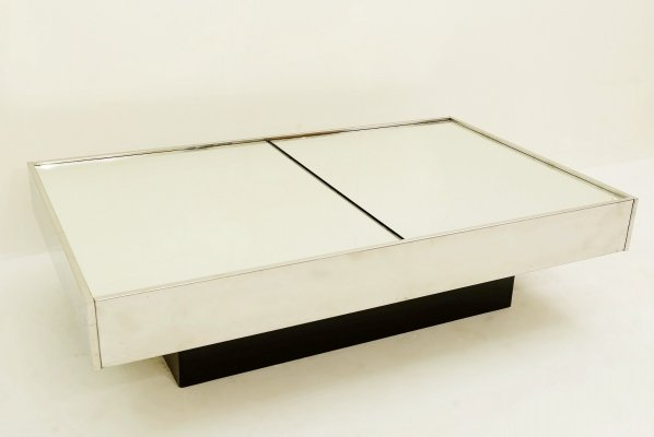 Willy Rizzo Coffee Table With Dry Bar by Cidue, 1970