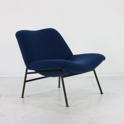 Typical Dutch design easy chair with organic tub, 1960s