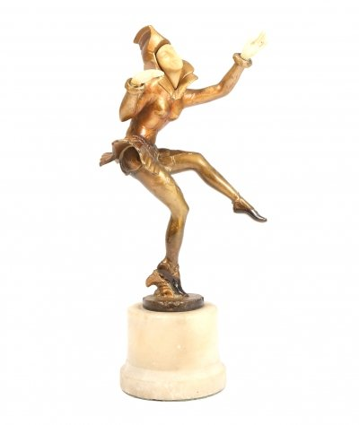 Art Deco Cold Painted Bronze Figurine, c1930