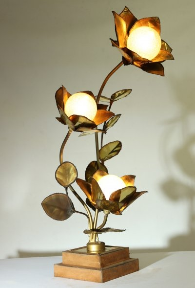 Lotus Lamp by Maison Jansen, c1970