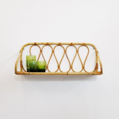 French rattan shelf from the sixties