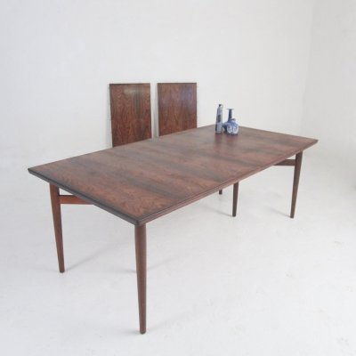 Rosewood dining table by Arne Vodder for Sibast Møbler, 1960s