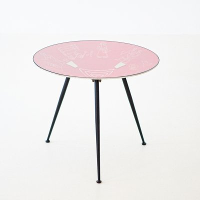 Italian modern round coffee table, 1950s