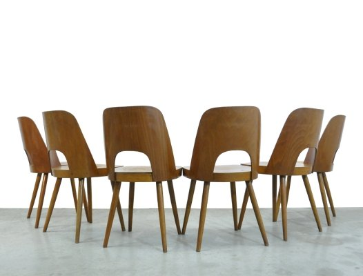 Set of 6 Beech dining chairs by Oswald Haerdtl for Thonet, 1955