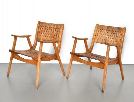 Pair of lounge chairs by Erich Dieckmann for Gelenka, 1930s