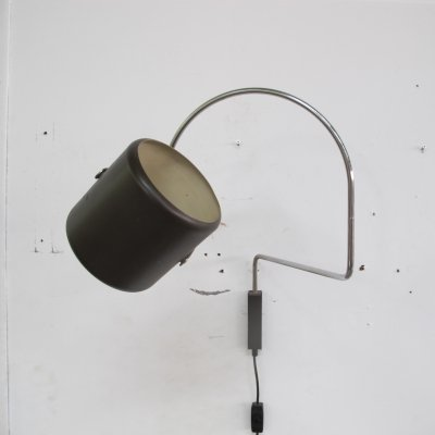 Elbow wall lamp by J.J.M. Hoogervorst for Anvia Almelo, 60s