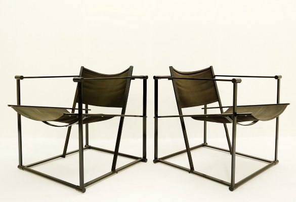 Pair of FM61 Cubic Chairs by Radboud Van Beekum for Pastoe, 1970s