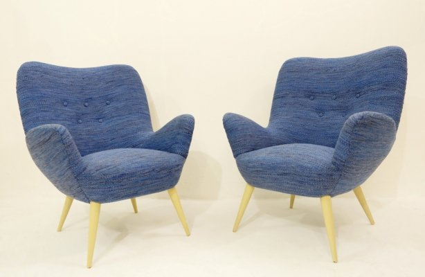 Pair Of Italian Armchairs by Cavatorta, 1950s