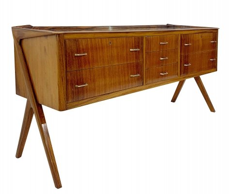 Italian Chest of Drawers With Mirror Top, 1960s
