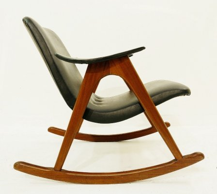 Rocking Chair by Louis Van Teeffelen for Webe, Netherlands 1960s