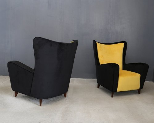 Pair of Ico Parisi armchairs, 1950s