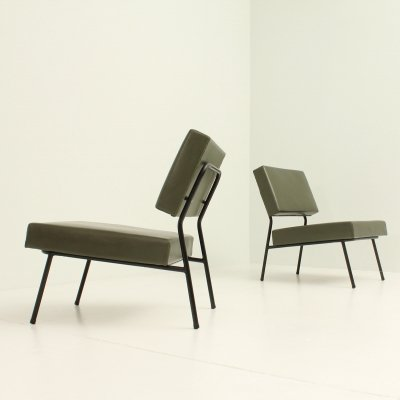 Pair of Easy Chairs by Pierre Guariche, 1950's