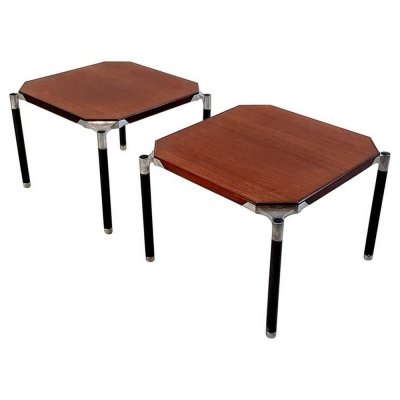 MIM Roma Mahogany 'Urio' Coffee Side Tables, circa 1950