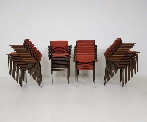42x Dining or Stacking Chairs by Gijs van der Sluis