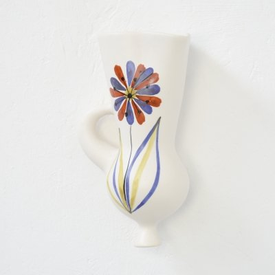 Wall Mounted Ceramic Vase by Roger Capron