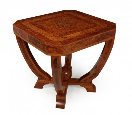Art Deco Coffee Table in Burr Yew, c1930
