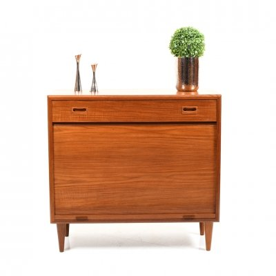 Mid Century Danish Shoe Cabinet in Teak