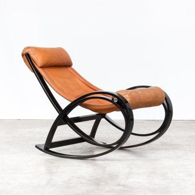 60s Gae Aulenti 'Sgarsul' Rocking Chair for Poltronova