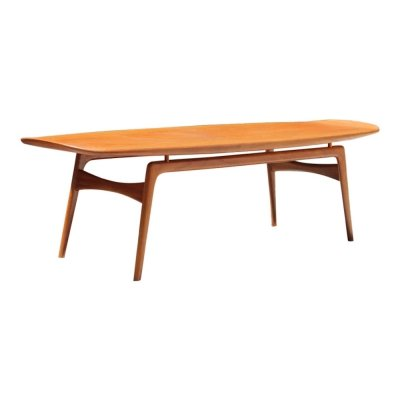Vintage teak Danish coffee table by Arne Hovmand Olsen for Mogens Kold, 1960s