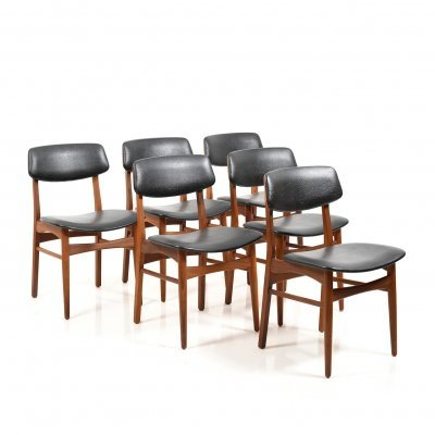 Set of 6 Danish Dining Chairs in Teak, 1960s