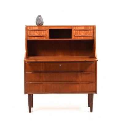 Mid Century Scandinavian Teak Wooden Secretary by Royal Board